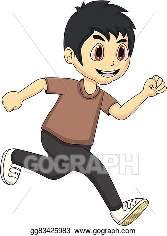 Little boy running clipart svg library Vector Illustration - Little boy running cartoon. EPS Clipart ... svg library