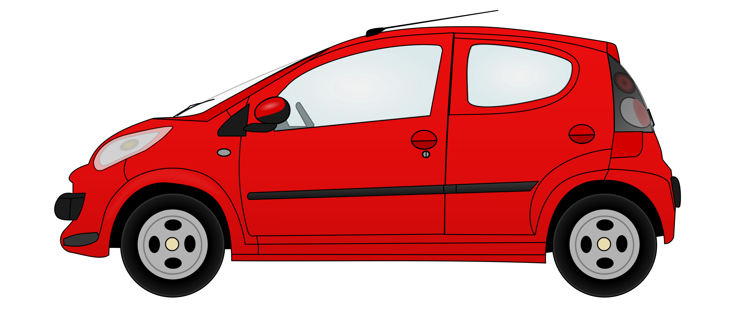 Red car clipart image transparent library Clipart - Little red car image transparent library
