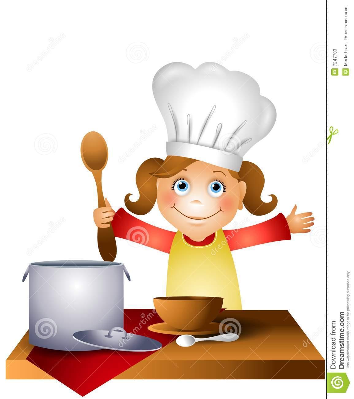 Little chef clipart clip art black and white download Little Girl Chef Clipart - Clipart Kid clip art black and white download