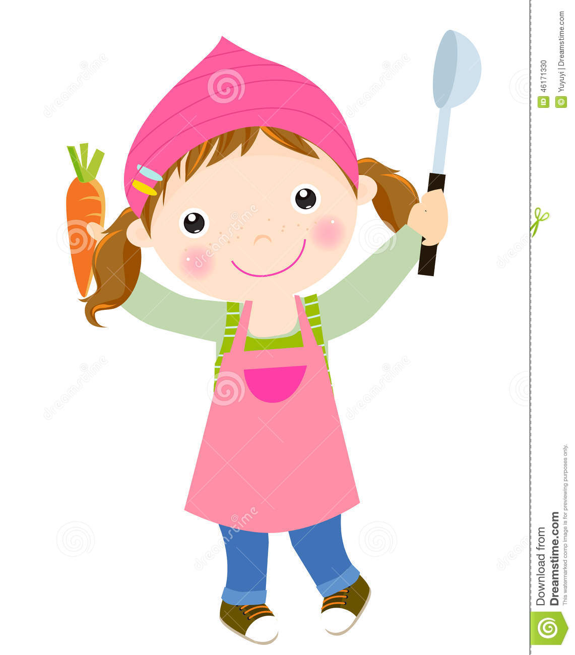 Little chef clipart picture royalty free Cute Little Chef Stock Vector - Image: 46171330 picture royalty free