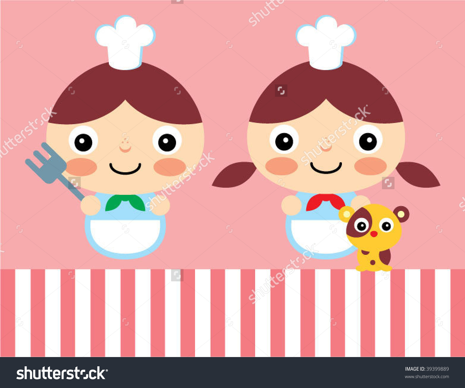 Little chef clipart clip art royalty free library Little Chef Couple Stock Vector 39399889 - Shutterstock clip art royalty free library