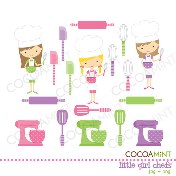 Little chef clipart free library Girl chefs clipart - ClipartFest free library