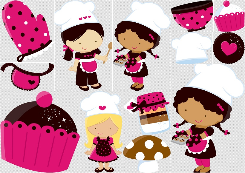 Little chef clipart banner freeuse library Girl chefs clipart - ClipartFest banner freeuse library