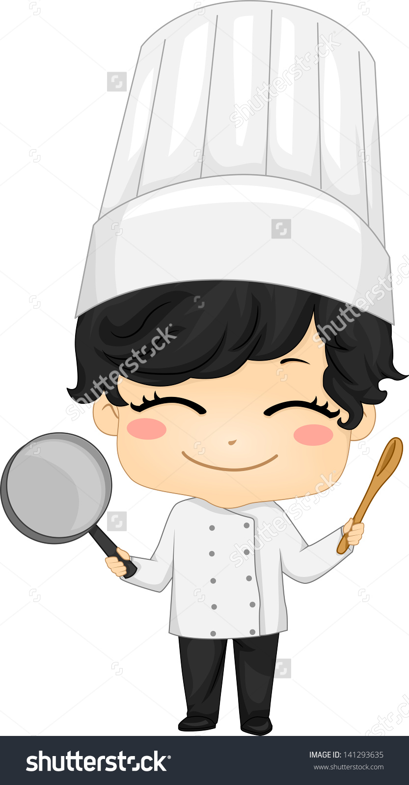 Little chef clipart clip art free stock Illustration Of Little Chef Boy Holding A Saucepan And A Kitchen ... clip art free stock