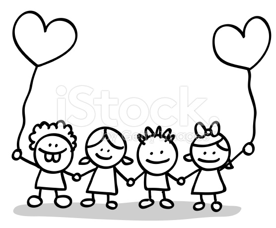 Kids being kind clipart black and white image free library Child Clipart Black And White | Free download best Child Clipart ... image free library