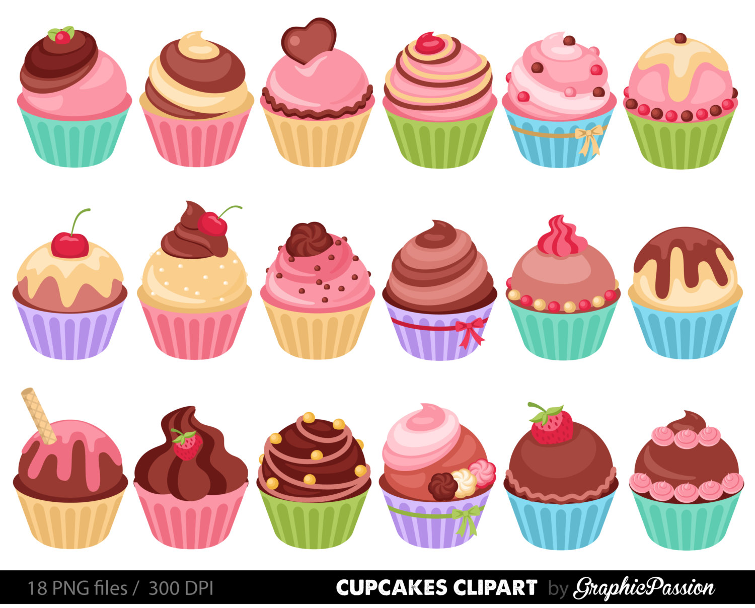 Little cupcake clipart graphic royalty free 101+ Cupcake Pictures Clip Art | ClipartLook graphic royalty free
