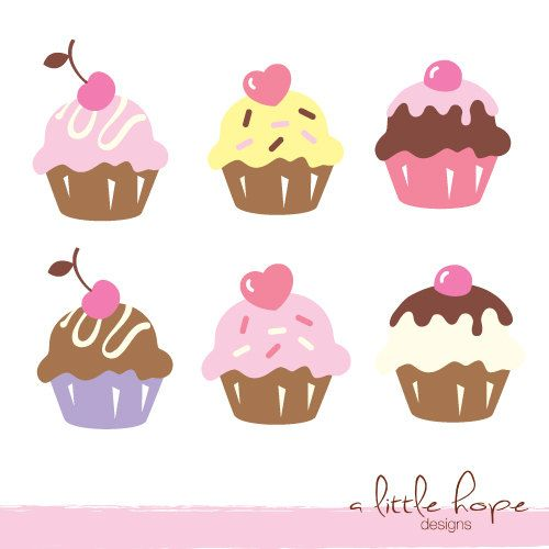 Little cupcake clipart svg free Pin by Karen Thurmer on Cupcake Art | Cupcake clipart, Cupcake art ... svg free