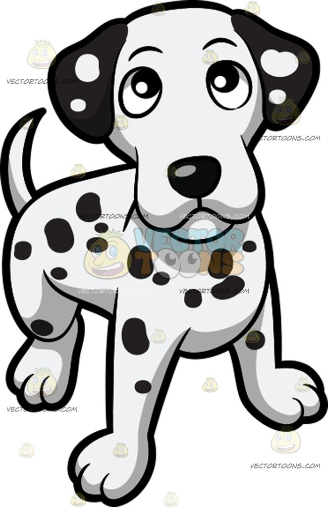 Little dog clipart in black and white image transparent download A Curious Yet Friendly Dalmatian Puppy : A small dog with short ... image transparent download