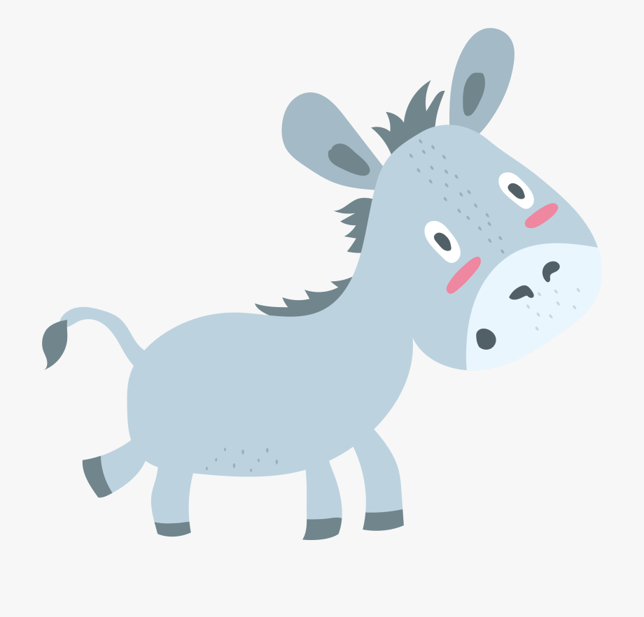 Little donkey clipart image royalty free library Donkey Clipart Little Donkey - Donkey Illustration Png #360555 ... image royalty free library