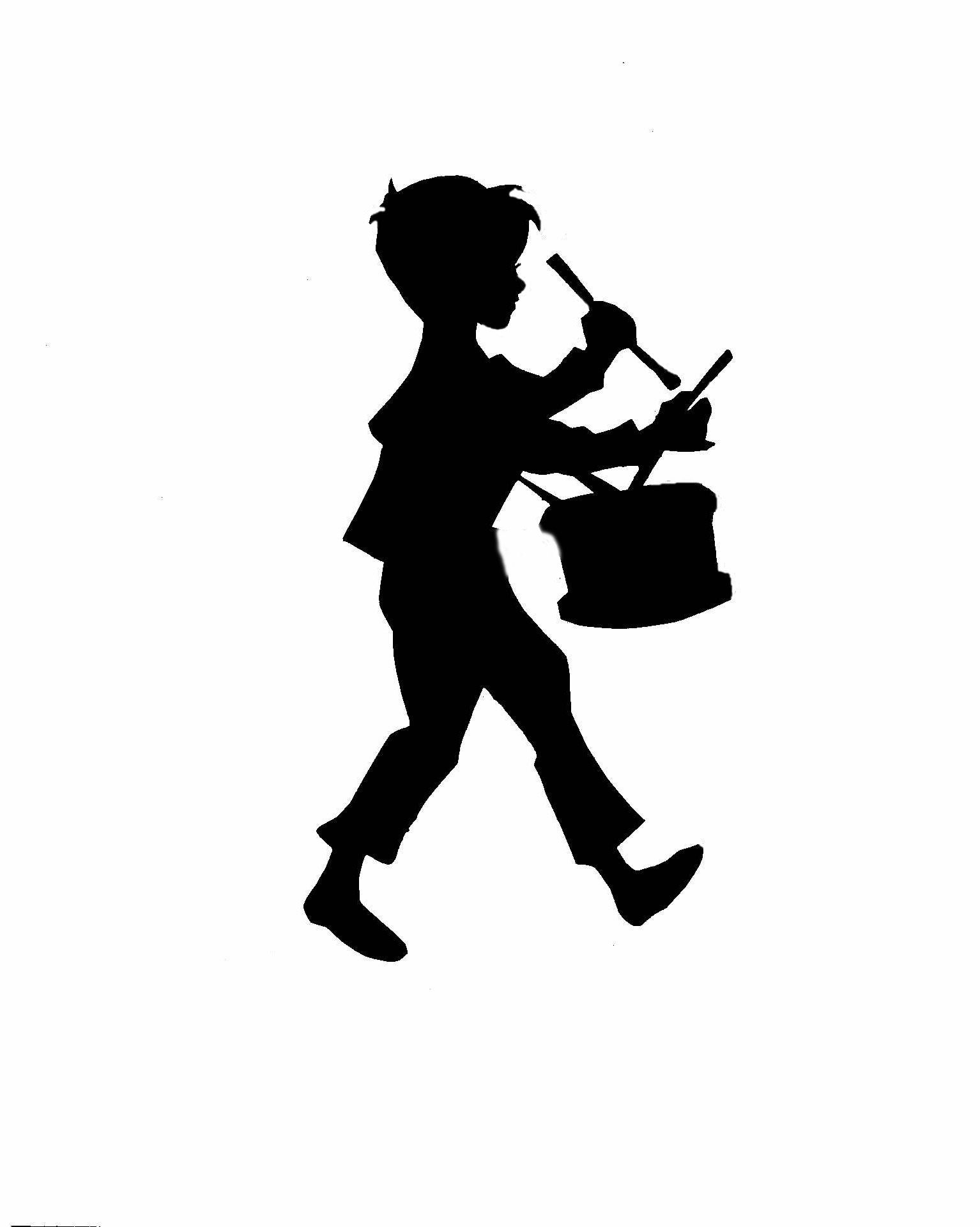 Little drummer boy clipart free free download Little boy with a frog silhouette | One of my earliest decorative ... free download
