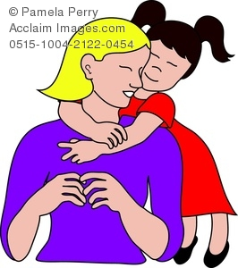 Little girl and mom clipart clip transparent little girl hugging her mom clipart & stock photography | Acclaim Images clip transparent