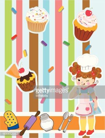 Little girl baker clipart banner stock Baker Little Girl stock vectors - Clipart.me banner stock