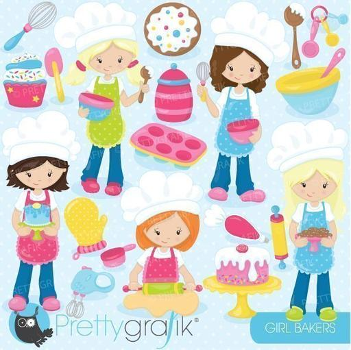 Little girl baker clipart svg free download Food & Beverage Cliparts — mygrafico svg free download