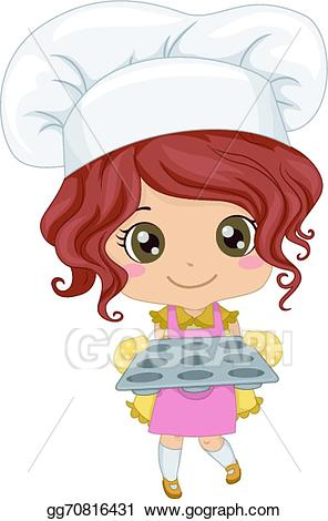 Little girl baker clipart royalty free Vector Clipart - Baker girl. Vector Illustration gg70816431 - GoGraph royalty free