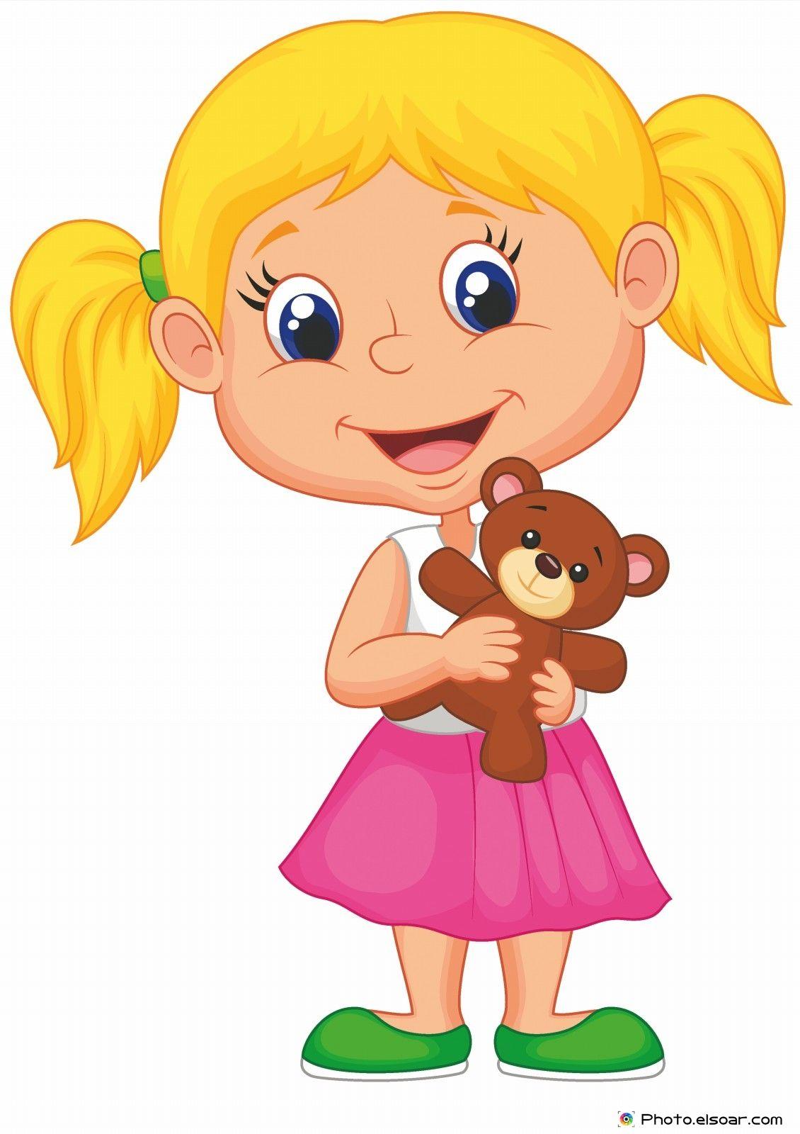 Little girl cartoon clipart jpg library 15 Funny Cartoon Kids Pictures • Elsoar | Cartoon | Little girl ... jpg library