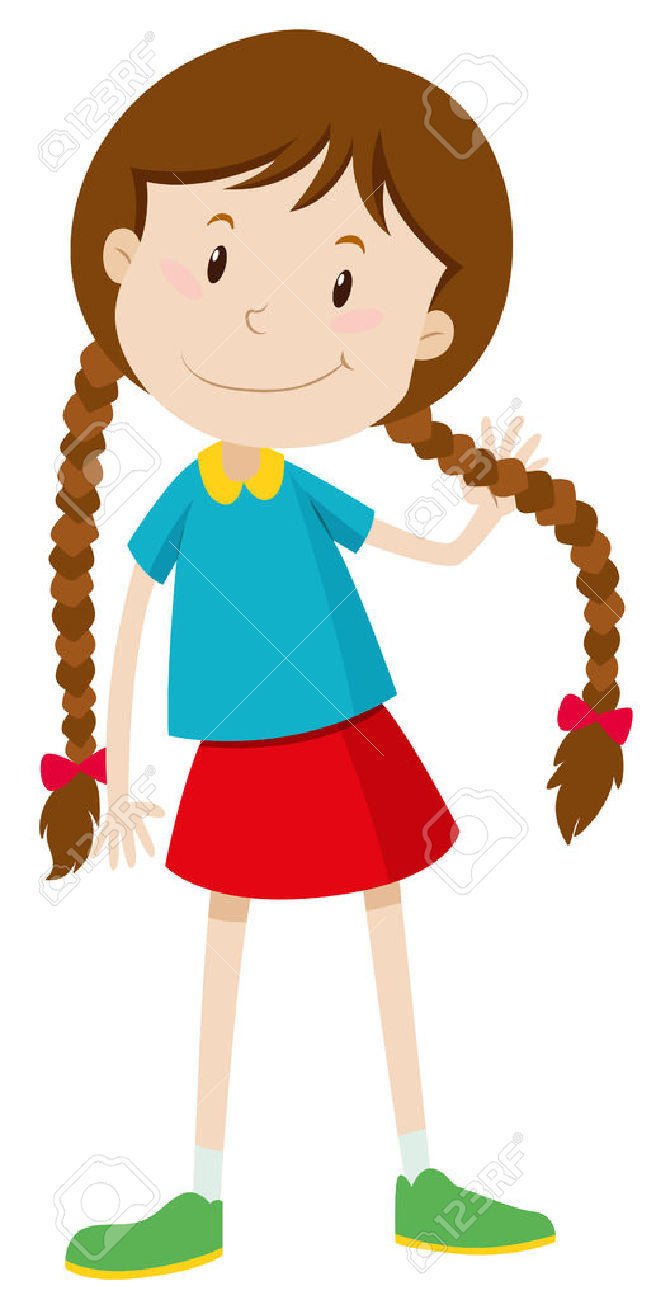 Little girl cartoon clipart svg free Cute Little Girl Clipart | Free download best Cute Little Girl ... svg free