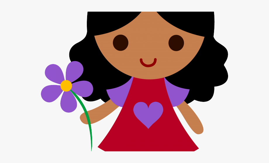 Little girl cartoon clipart