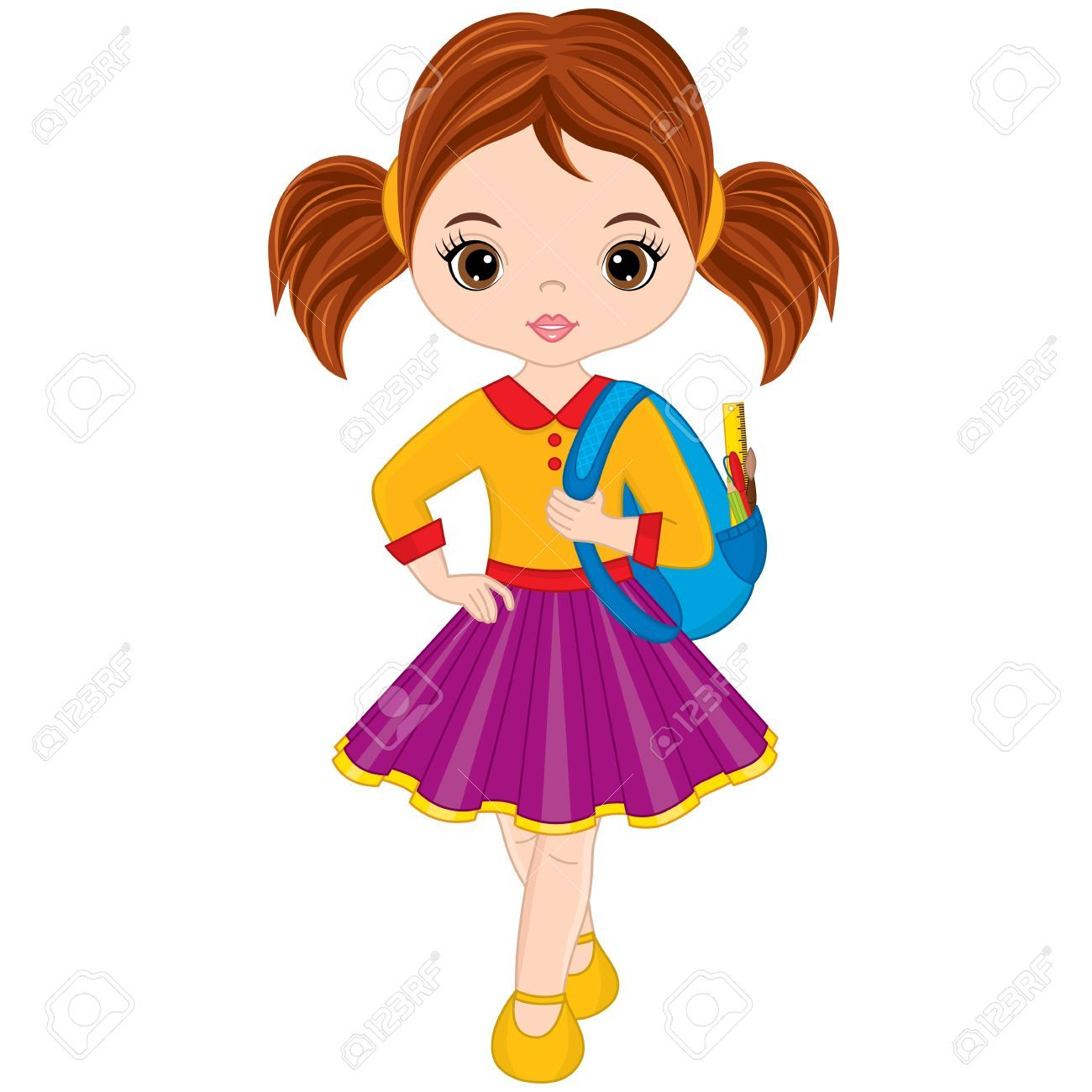 Little girl clipart clipart freeuse stock Cute little girl clipart 6 » Clipart Portal clipart freeuse stock