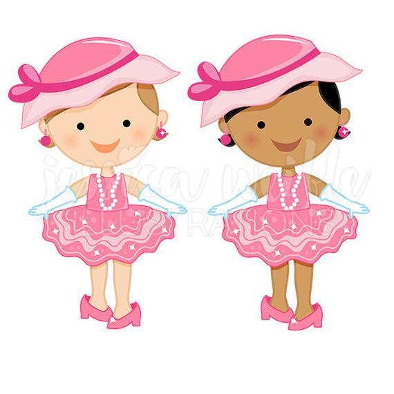 Little girl dress up clipart clip art library Dress Up Baby Girl Cute Digital Clipart Toddler Girl Clip   Cl - 570 ... clip art library