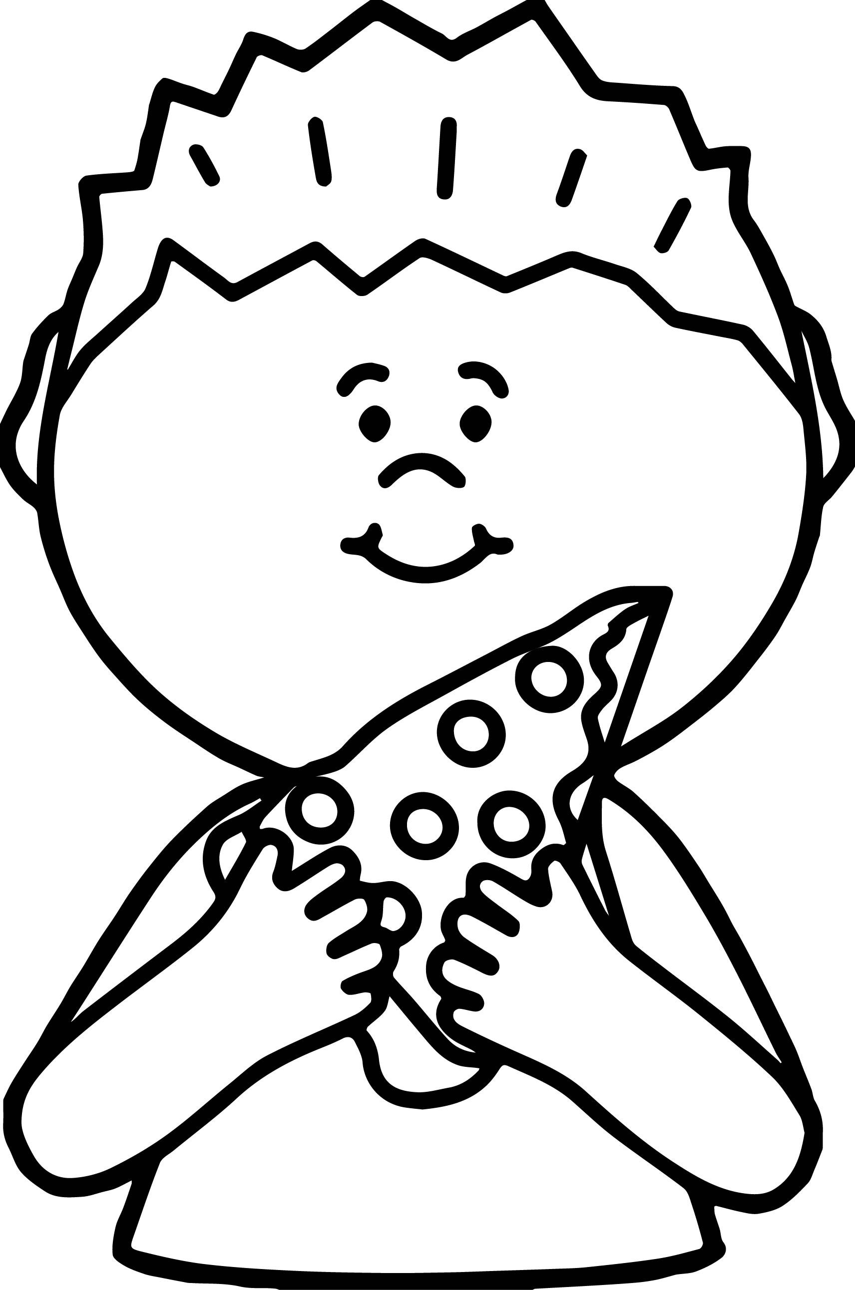 Kids eating pizza clipart black and white image free download awesome Boy Eating Pizza Coloring Page | Food and drinks | Pizza ... image free download
