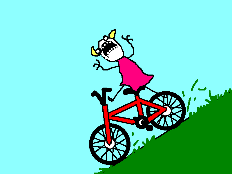 Little girl falling off bike clipart image transparent download Free Cartoon Bike Rider, Download Free Clip Art, Free Clip Art on ... image transparent download