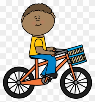Little girl falling off bike clipart banner stock Boy Riding A Bicycle With A Basket - Boy On A Bike Clipart - Png ... banner stock