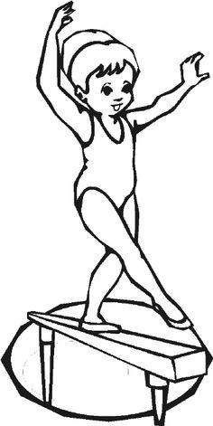 Kids gymnastics clipart black and white svg freeuse stock Free Cute Gymnastics Cliparts, Download Free Clip Art, Free Clip Art ... svg freeuse stock