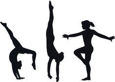 Kids gymnastics clipart black and white image black and white download 28 Best Gymnastics Silhouettes images in 2013 | Silhouette ... image black and white download