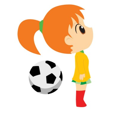 Little girl playing soccer clipart clip art freeuse library Little Girl Playing Soccer Wall Decal By Kowalla Cliparts - Free Clipart clip art freeuse library