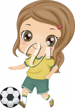 Little girl playing soccer clipart svg freeuse download Tips And Tricks To Play A Great Game Of Football | Play Great Soccer ... svg freeuse download