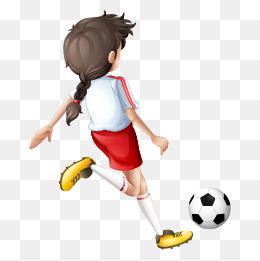 Little girl playing soccer clipart clipart transparent download Play Football, Football Clipart, Little #93939 - PNG Images - PNGio clipart transparent download