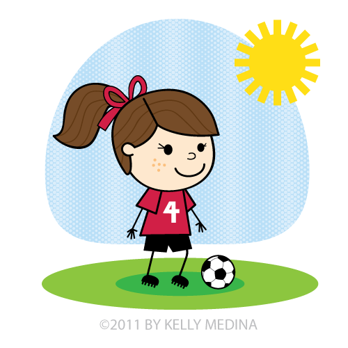 Little girl playing soccer clipart jpg download Free Girls Soccer Cliparts, Download Free Clip Art, Free Clip Art on ... jpg download