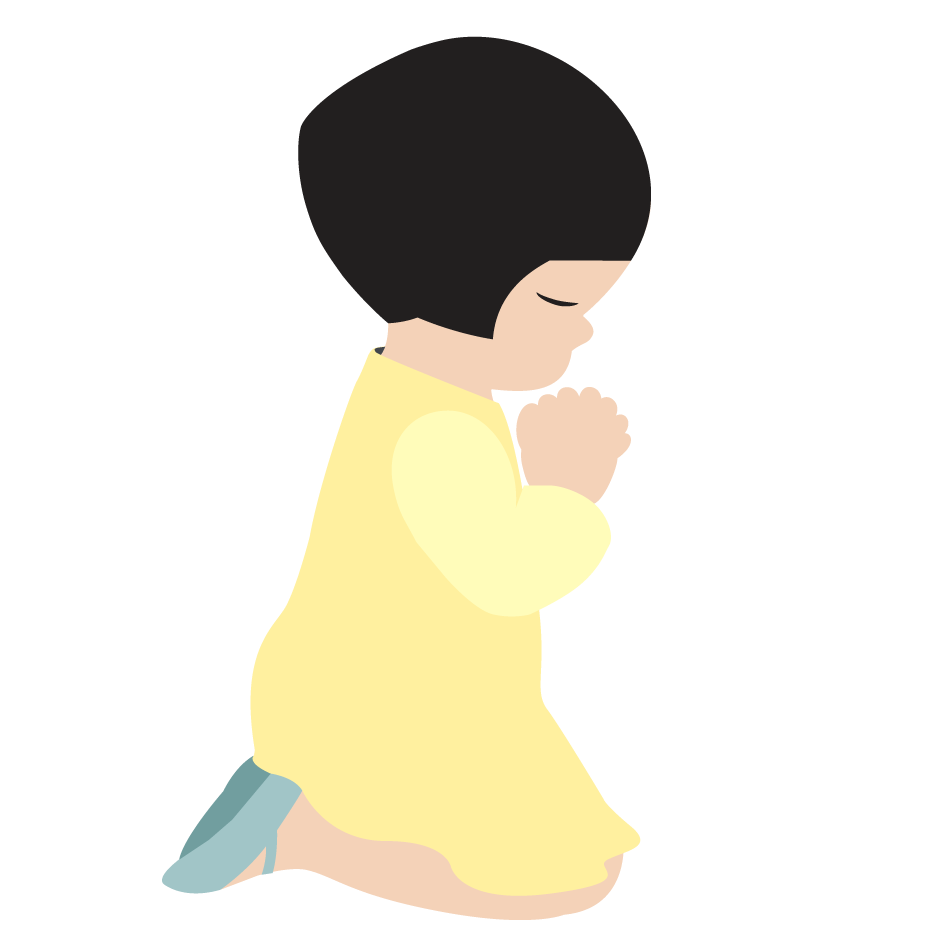 Little girl praying cross clipart graphic free download Pix For > Little Girl Praying Clipart | Toddlers' Bible Lessons and ... graphic free download