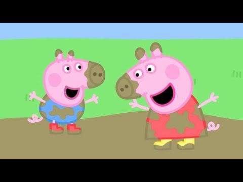 Little girl stomping in muddy puddles clipart png transparent Peppa Pig Official Channel | Peppa Pig\'s Best Muddy Puddle Moments ... png transparent