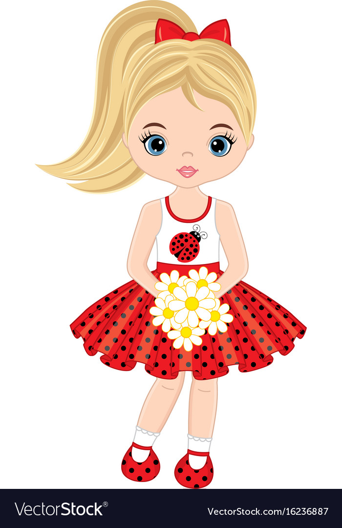 Little girl with flowers clipart clip art royalty free library Cute little girl with flowers clip art royalty free library