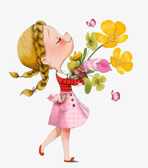 Little girl with flowers clipart clip library download Little Girl Holding Flowers PNG, Clipart, Bouquet, Flowers Clipart ... clip library download