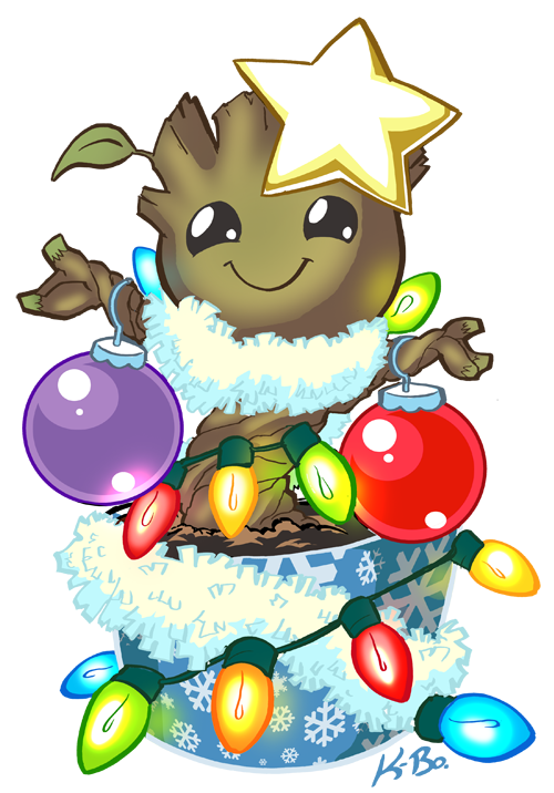 Oh Christmas Groot, oh Christmas Groot, how lovely are thy dances ... transparent download