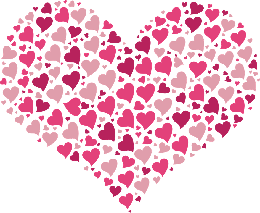 Little heart clipart graphic black and white download Heart Full Of Little Hearts Pink transparent PNG - StickPNG graphic black and white download