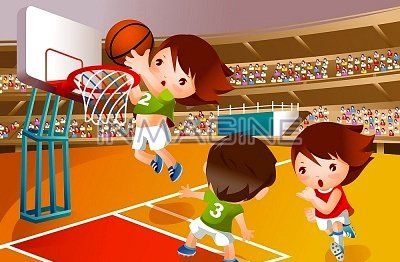 Little kids finish line caricature free clipart png freeuse library Cartoon Girls Basketball - Bing Images | ~ Illustrations ~ | Kids ... png freeuse library
