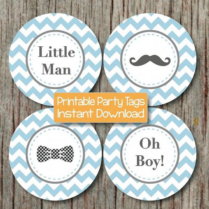 Little man bow tie clipart striped oh boy jpg black and white download Little Man Baby Shower Mustache Bash Cupcake Toppers Printable Mustache Bow  Tie Oh Boy! Favor Tags Digital Powder Blue Grey 104 jpg black and white download