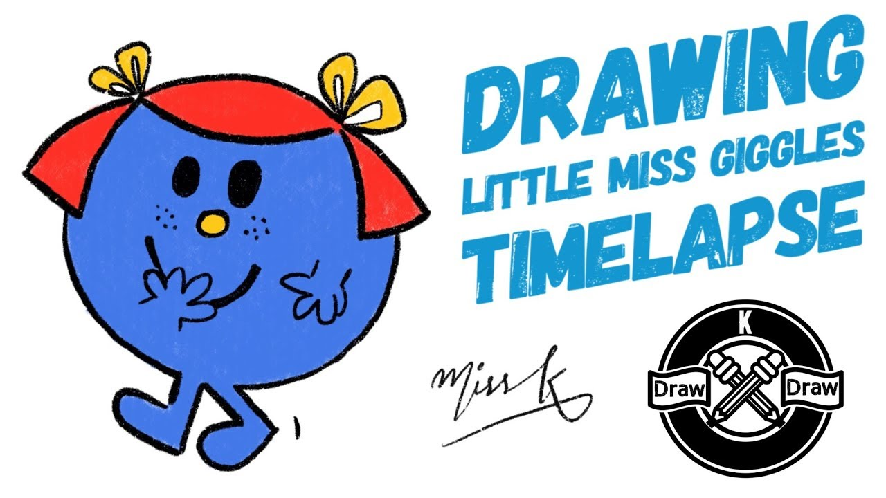 Little miss giggles clipart graphic transparent download Drawing Little Miss Giggles Timelapse graphic transparent download