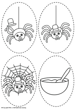 Little miss muffet clipart black and white picture royalty free Little Miss Muffet Nursery Rhyme Puppets picture royalty free