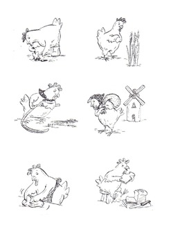 Little red clipart black and white clipart royalty free download Little Red Hen black and white images. clipart royalty free download