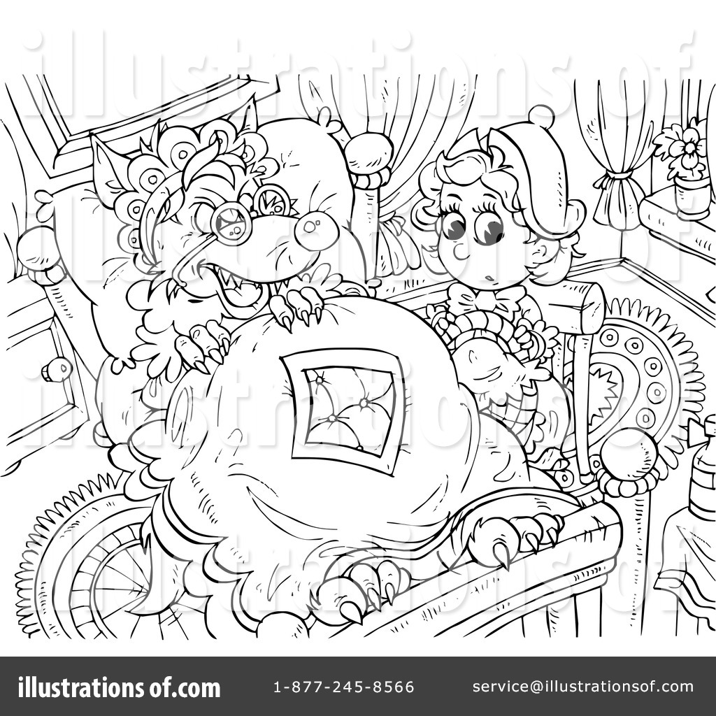 Little red riding hood book clipart black and white black and white library Little Red Riding Hood Clipart #91887 - Illustration by Alex Bannykh black and white library