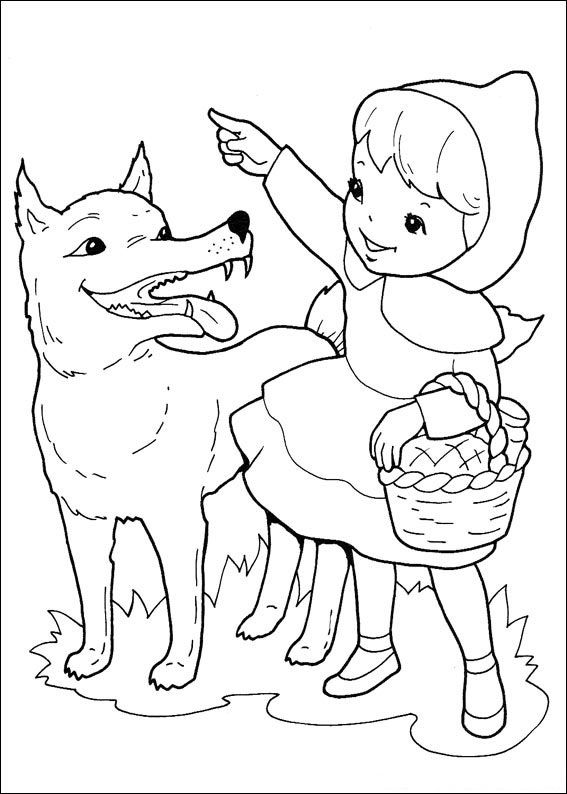 Little red riding hood book clipart black and white graphic freeuse stock 20 printable Little Red Riding Hood coloring pages for kids. Free ... graphic freeuse stock