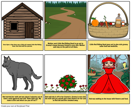 Little red riding hood path clipart banner royalty free Morgan Donovan Little Red Riding Hood Storyboard banner royalty free