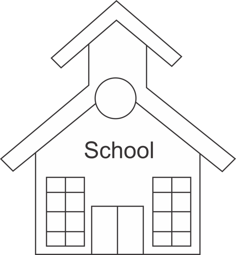 Little school house clipart png black and white stock Schoolhouse silhouette clipart 5 - WikiClipArt png black and white stock