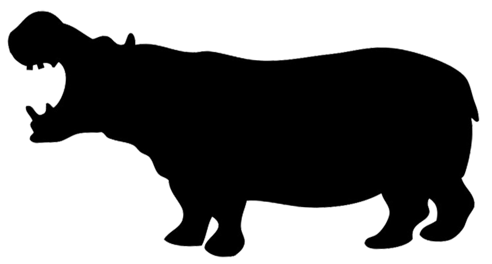 Little tikes car clipart image freeuse library silhouette of hippo | Silhouettes, Stencils & Scherenschnitte ... image freeuse library