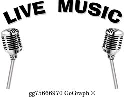 Live free clipart clipart black and white download Live Music Clip Art - Royalty Free - GoGraph clipart black and white download
