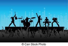 Live concert clipart clip art stock Band concert guitar guitarist illustration live music Clip Art and ... clip art stock